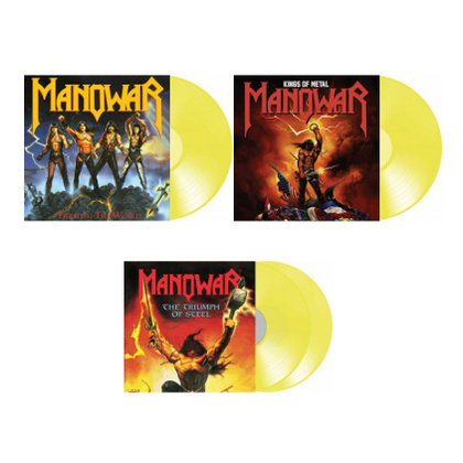 Manowar - Fighting The World / Kings Of Metal / The Triumph Of Steel (Ettetellimine / Pre-order)