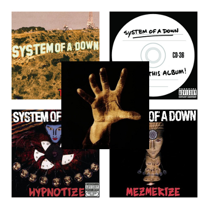 System Of A Down - SOAD / Toxicity / Steal This Album! / Hypnotize / Mezmerize